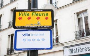 Panneaux du label en entrée de ville