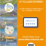 Maquette du flyer Villes Internet