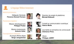 Illustration - équipe de l'association Villes Internet