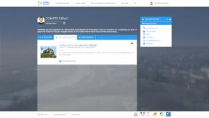 Illustration - Portail personnel sur la plateforme villes internet