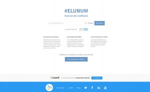 Page d'accueil - moteur de recherche #ELUNUM