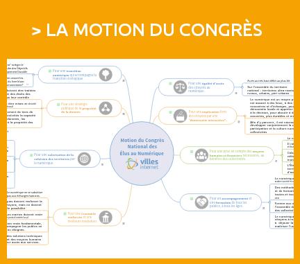 Découvrir la motion du premier Congrès national des élus au numérique