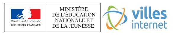 Logos Ministère de l'Éducation nationale et de la Jeunesse | Villes Internet