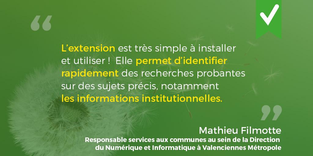 Verbatim de Mathieu FIlmotte, Responsable services aux communes au sein de la DNI à Valenciennes Métropole