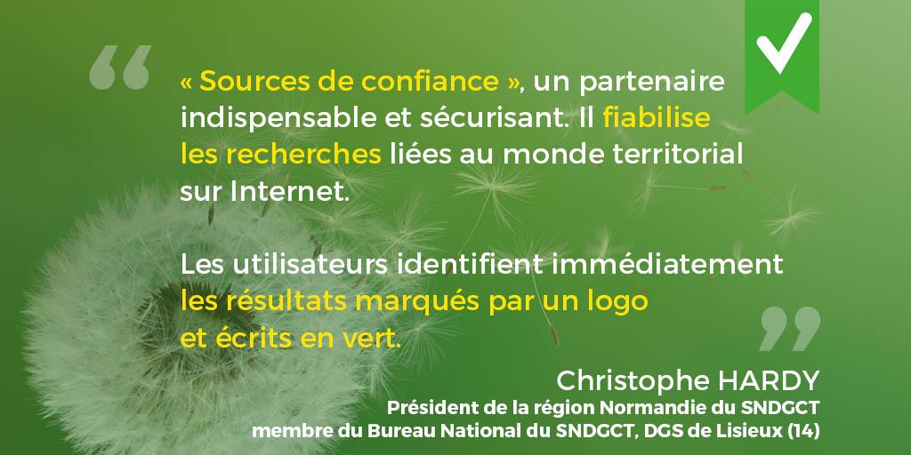 Verbatim de Christophe Hardy, Président du SNDGCT région Normandie, DGS de LIsieux